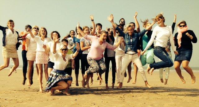 cultuur, student, zee, teambuilding, klas, groep, verpleegkunde, HBO5, A2, graduaat